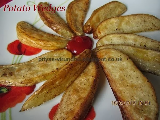 Potato Wedges - Guest post by Priya Anandkumar