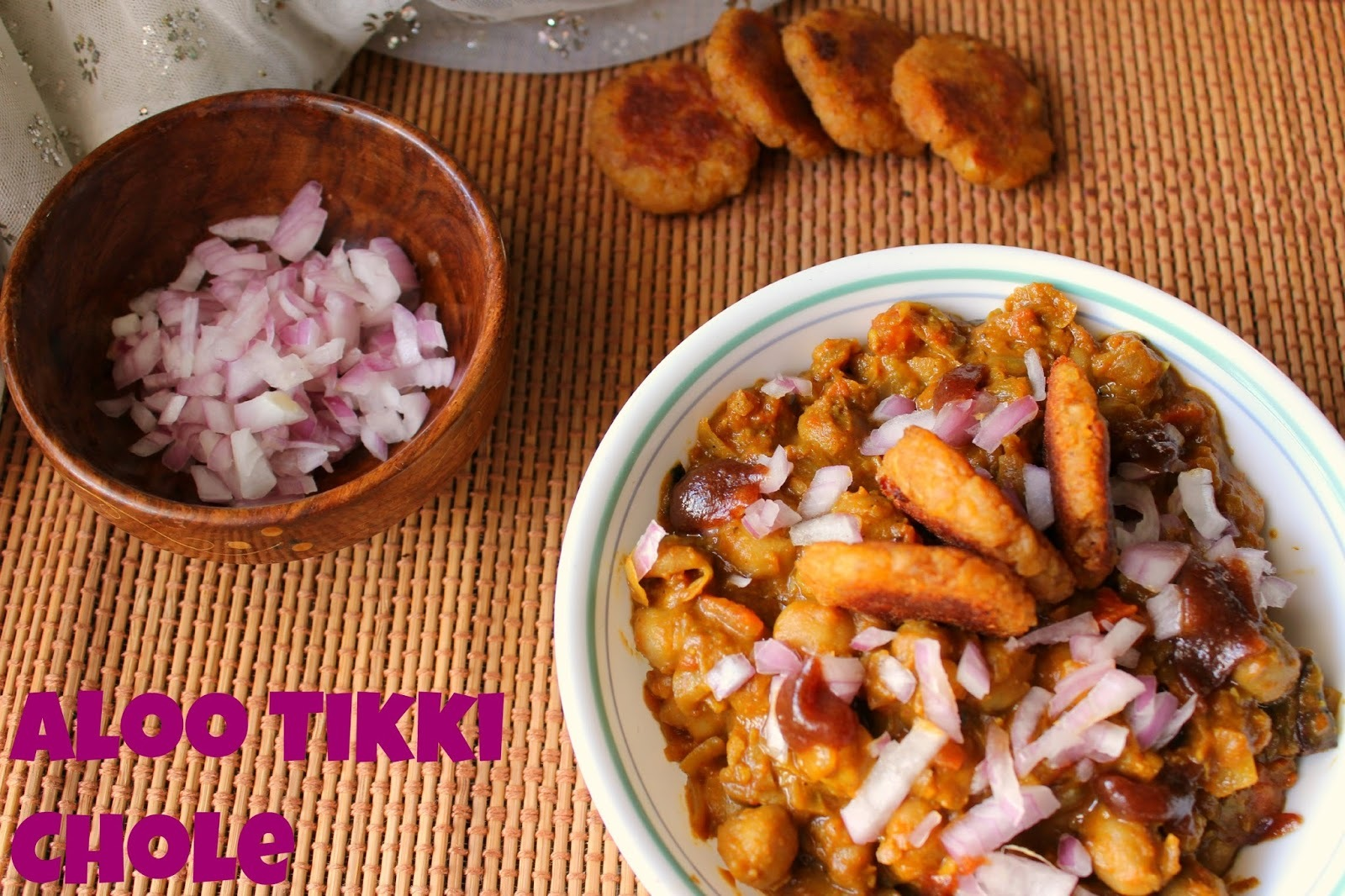 Aloo Tikki Chole | Indian Chaat