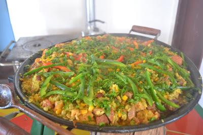 Paella Campeira simples para 20 pessoas