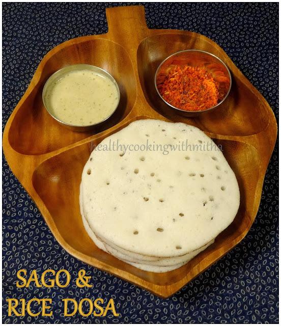 Sabudana Dosa | Sago & Rice Dosa with Hing Chutney
