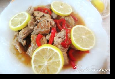 Χοιρινό ψαρονέφρι με κόκκινη πιπεριά