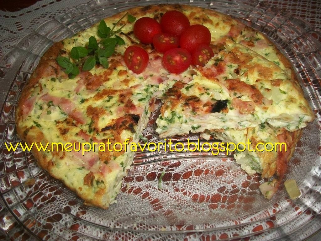 Omelete de queijo curado