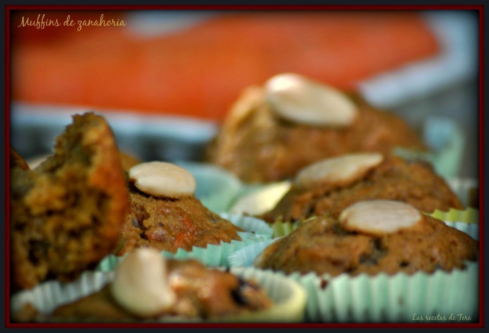 Muffins de zanahoria.