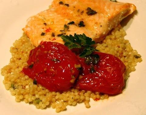 Saumon À Couscous Marocain, Tomates Confites