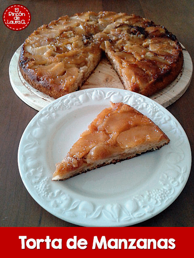 Torta de Manzanas invertida o del revés • Upside-down Apple cake