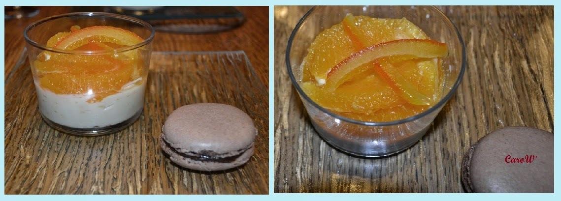 Crème, suprêmes et confits d'oranges