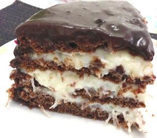 Bolo de Chocolate Fit com Recheio