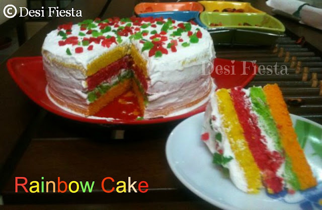 Rainbow Cake (Come On - Lets Cook Buddies) Entry 42