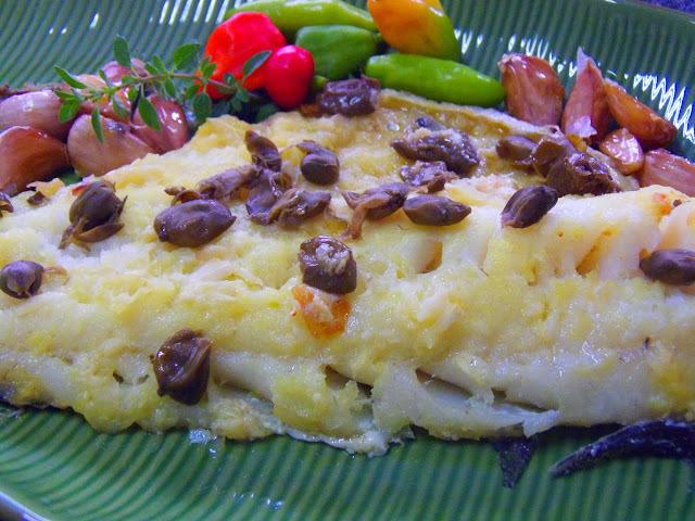 de bacalhau fresco ao forno com pure de batata
