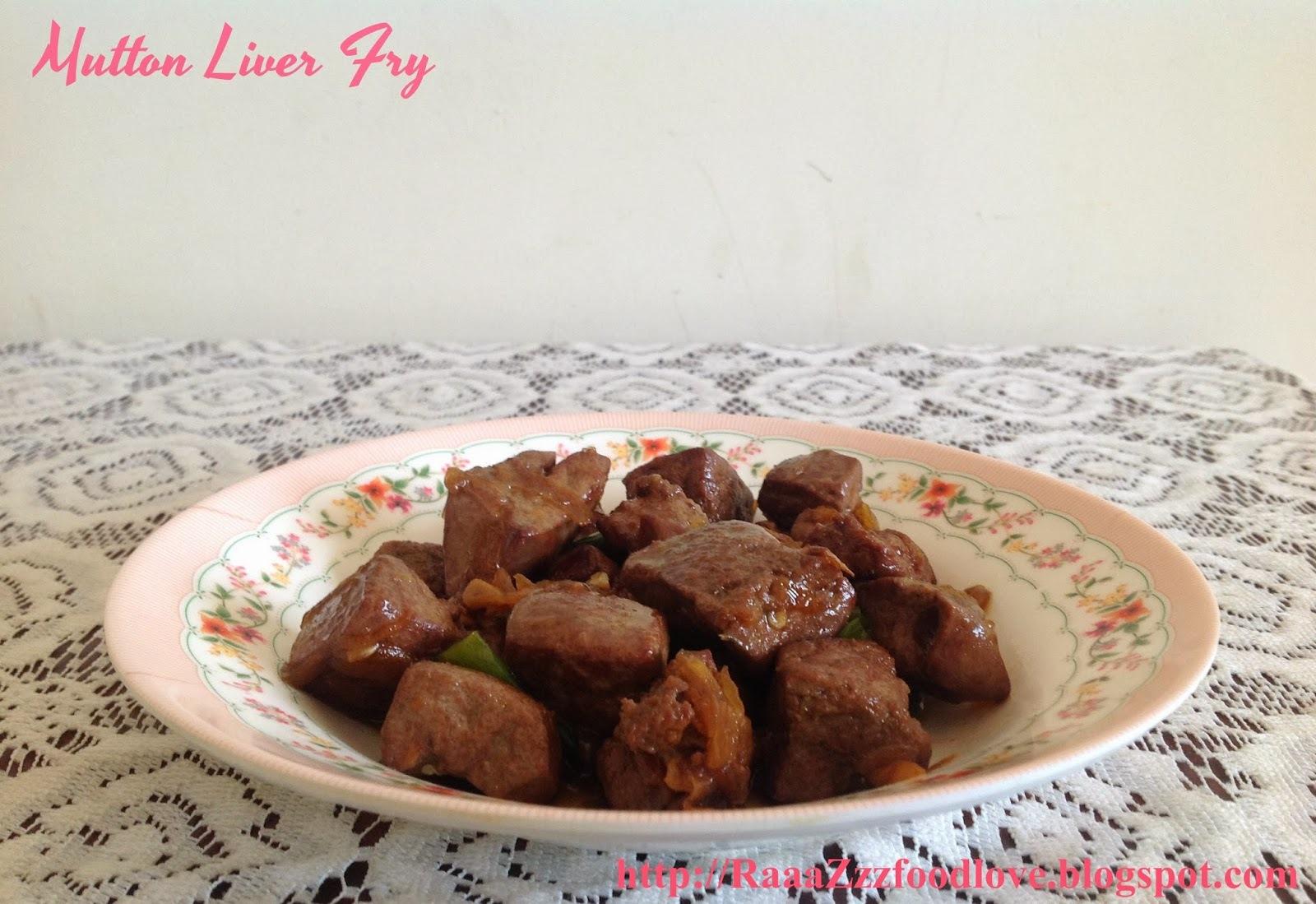 Mutton Liver Fry / Bhuni Kaleji