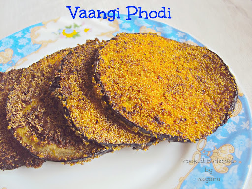 Vaangi Phodi ( Shallow fried brinjal slices )