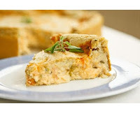 Quiche Light com Massa de Bolacha