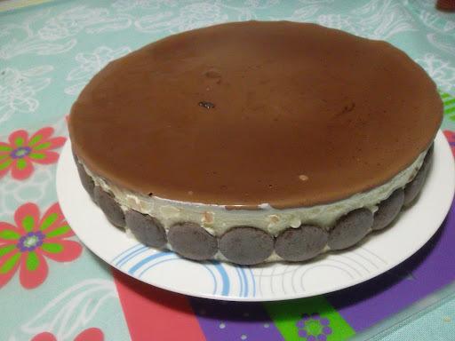 torta de bolacha maria de chocolate simples