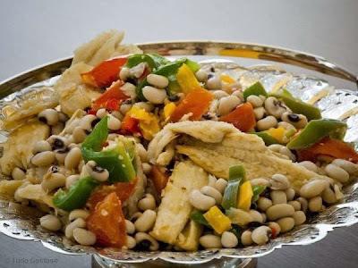 Salada de Feijão Fradinho com Bacalhau