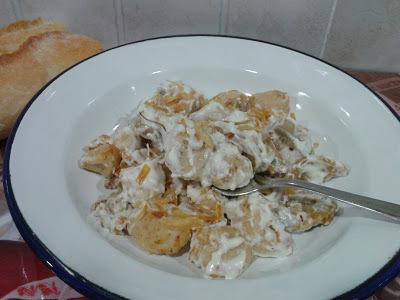 milhojas de papa y pollo