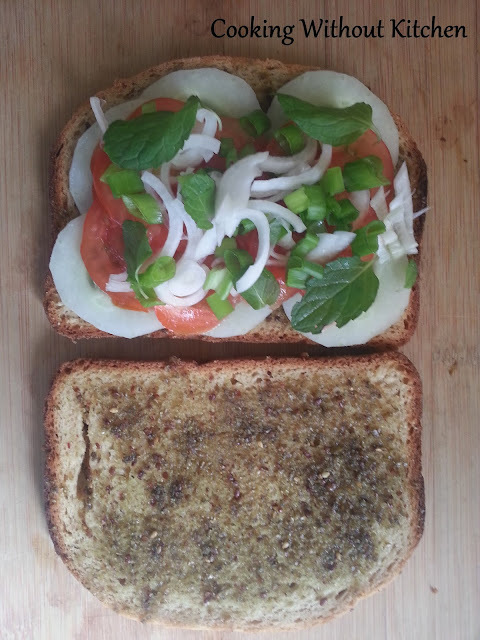 Za'atar and Butter pepper Toasts and sandwich in rice cooker/ toaster/ non-stick pan)