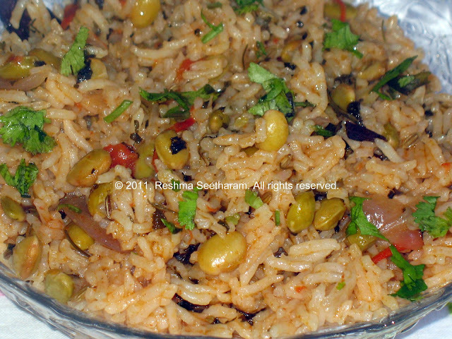 Vegetarian rice dishes, pilaf and biriyani