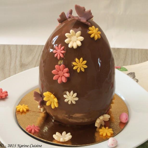 L'entr'œuf de Pâques {entremet aux 3 chocolats, praliné et Grand-Marnier}