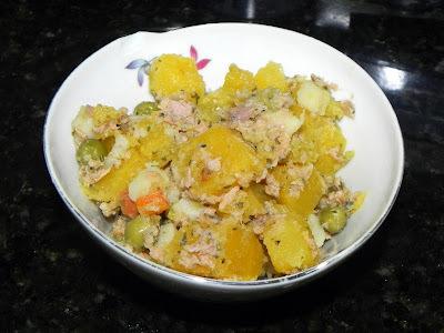 Salada de Atum com Mandioquinha