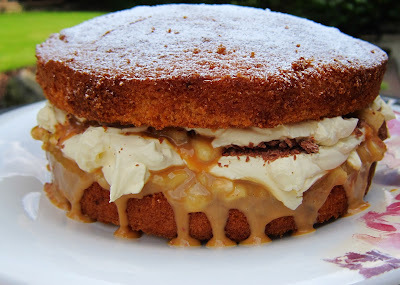 Banoffee Victoria Sponge & the GBBO - recipe