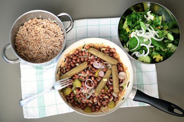 Seitan s fazuľou a kernottom