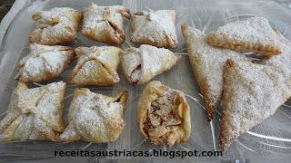 FOLHADOS CROCANTES COM DAMASCO - Knusprige Blätterteig mit Aprikosen