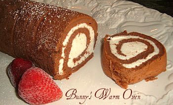 Chocolate Sponge Cake Roll