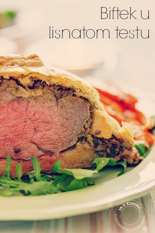 Biftek u lisnatom testu / beef wellington