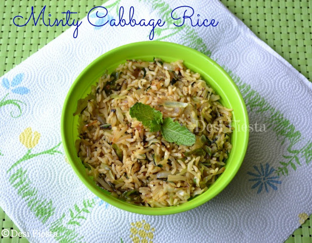 Minty Cabbage Rice (come on - let cook buddies ) Entry 63