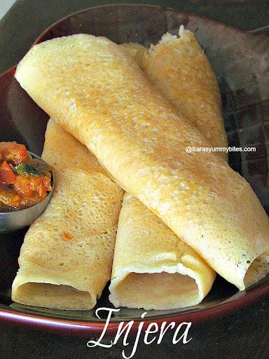 Ethiopian Injera without teff flour/ African Dosa / Quick Dosa