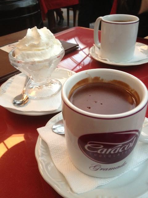 Caracol: O melhor chocolate quente