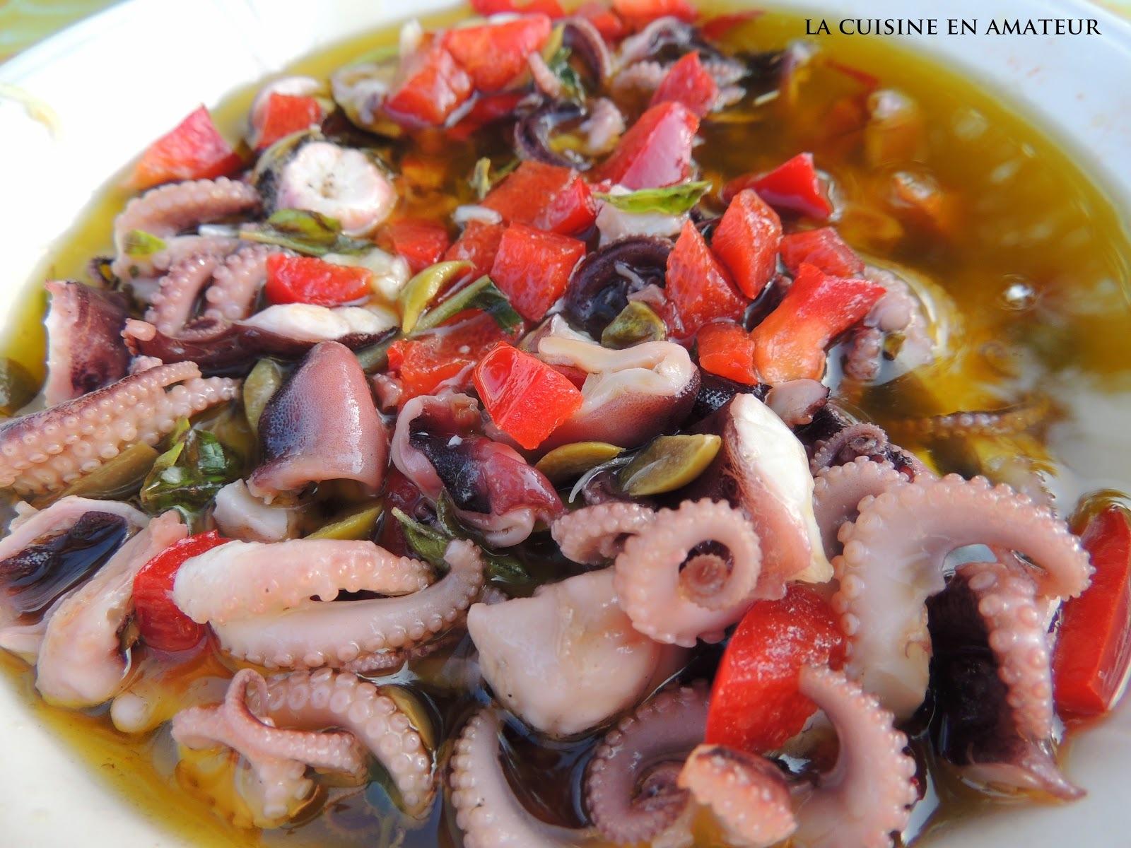 Salade de poulpes marinée à la provençale