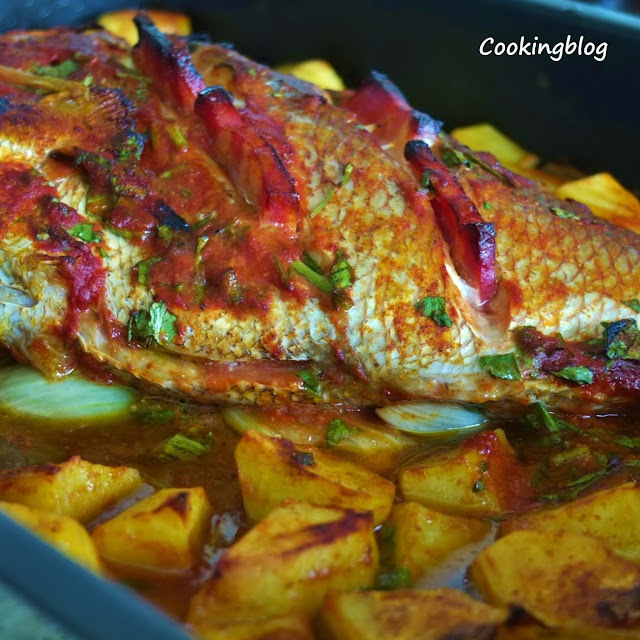 Pargo no forno | Roasted snapper