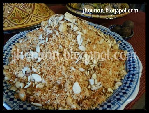 Recipe : Moroccan Almond and Harissa Couscous - Vegan