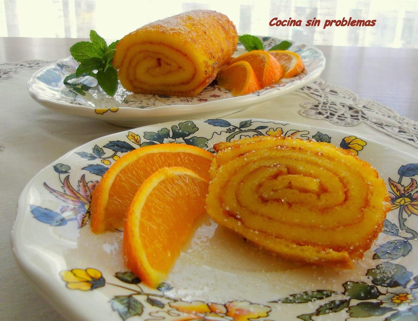 Brazo de gitano de naranja.