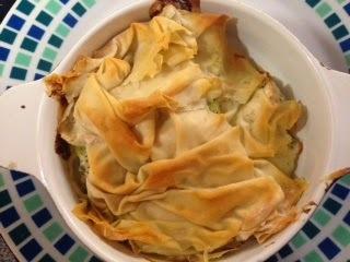 Chicken Filo Pastry Pie