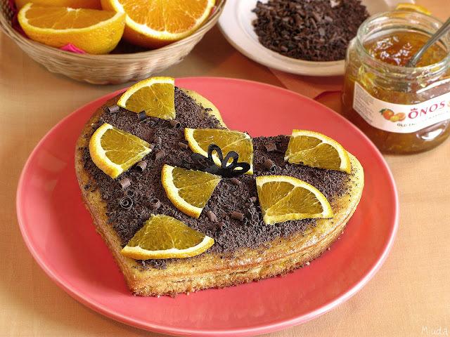 Постный апельсиновый бисквит / Pão de ló de laranja sem leite e sem ovo