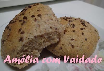 Pãezinhos Integrais de Kefir com Azeite de Oliva e Linhaça