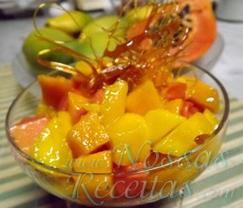 Sobremesa de Manga e Papaia