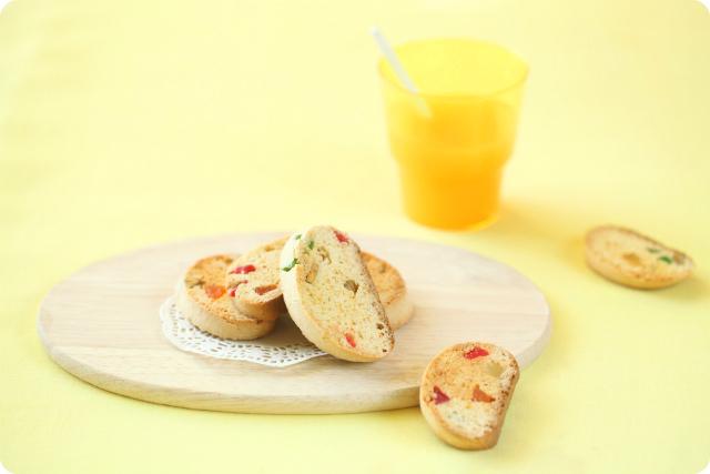 Бискотти с мёдом, апельсином и цукатами / Biscotti de mel, laranja e frutas cristalizadas