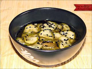 salada de pepino japones agridoce