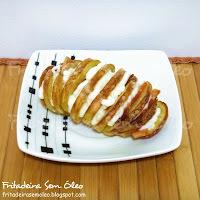 Batata Frita Recheada na AirFryer (Batatas Hasselback)