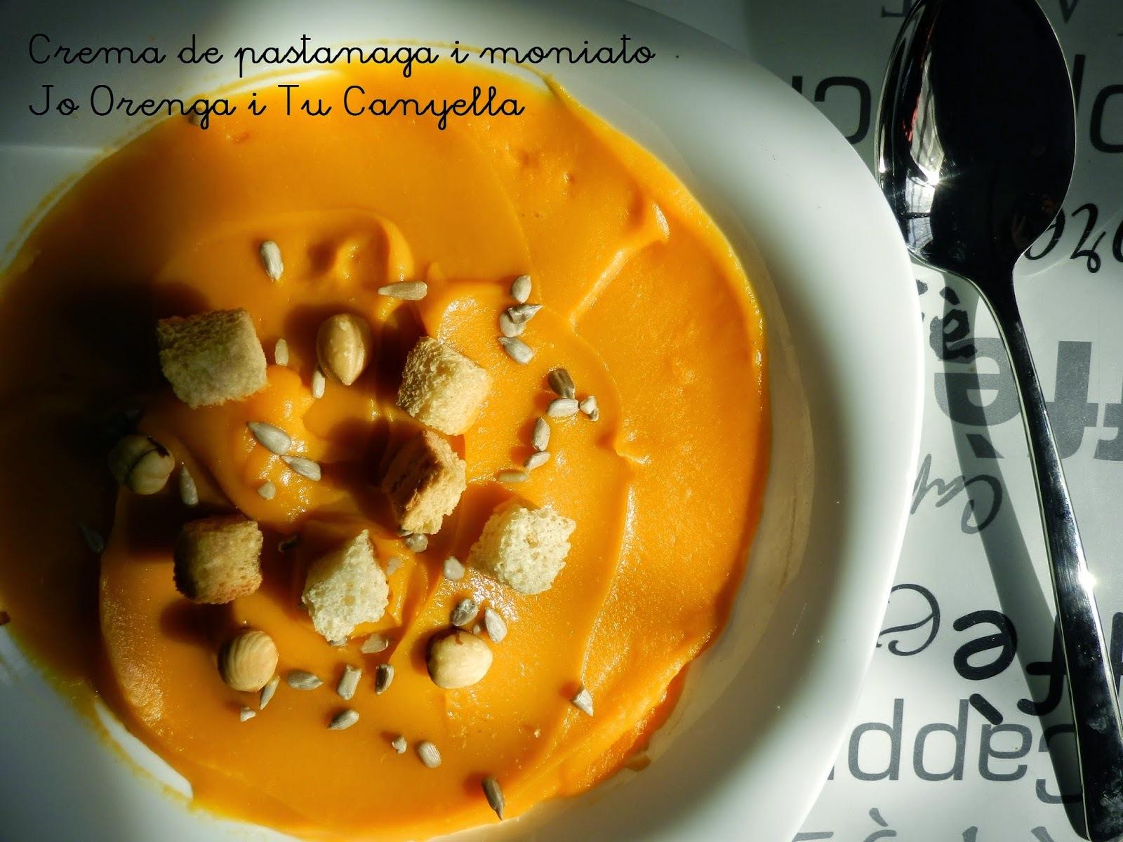 Crema de pastanaga i moniato / Crema de zanahoria y boniato