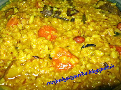 PARIBA KHECHUDI (VEGETABLE KHICHDI)...ONE OF THE MOST ODISHA'S FAMOUS SATWIK RECIPE