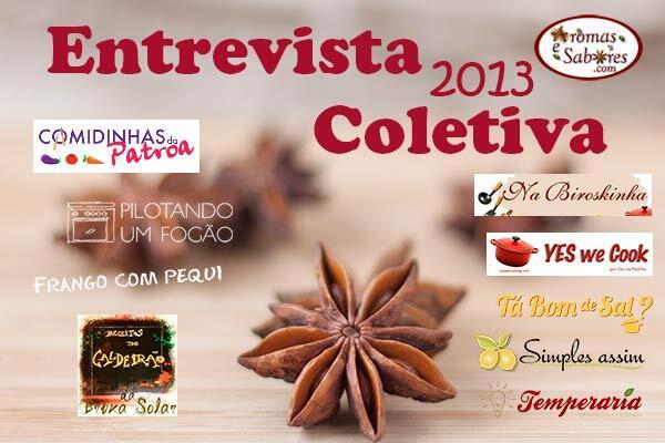 Entrevista Coletiva - Aromas e Sabores entrevista Comidinhas da Patroa