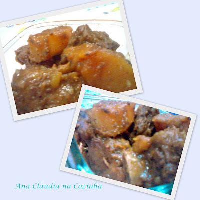Costelinha de Porco com Batata e um Feijãozinho Delicioso