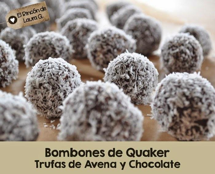 Receta de Bombones de Quaker - Trufas de avena y chocolate