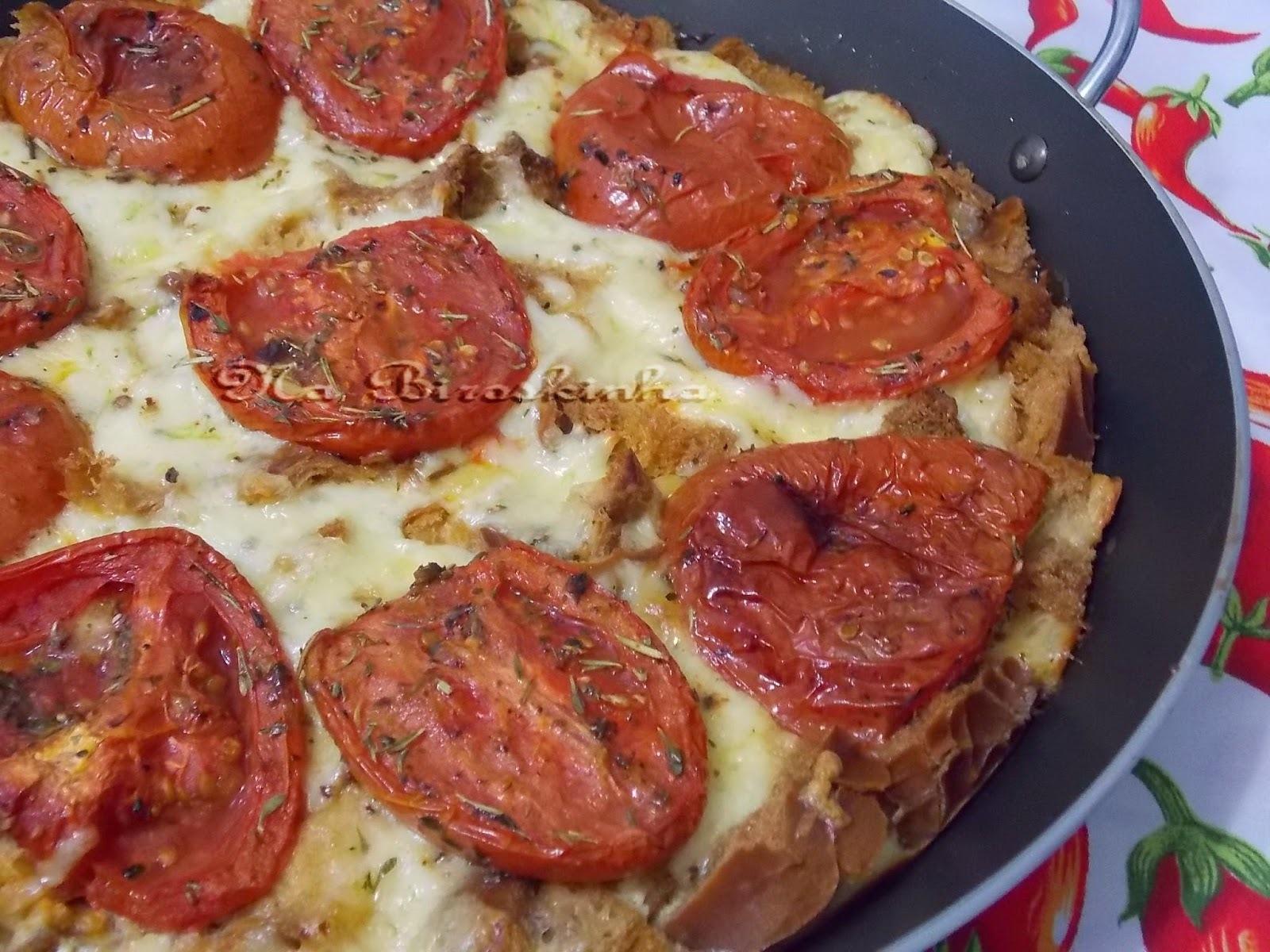 Pudim de Pão com Tomate