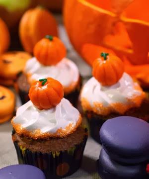 Cupcake de Abóbora com Marshmallow
