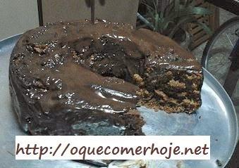 de bolo de chocolate com café soluvel